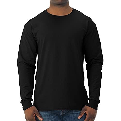 Jerzees Men's Dri-Power Long Sleeve T-Shirt, Black, 3X-Large