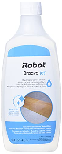 iRobot Authentic Replacement Parts Jet Hard Floor Cleaning Solution, Compatible with All Braava Robot Mop Accessory, Clear