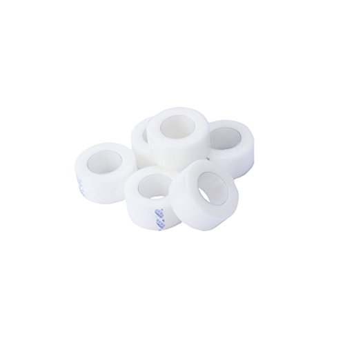 HEALIFTY 6 Rolls Medical Tape Pressure for Sensitive Skin Clear Surgical Tape PE Microporous First Aid Tape