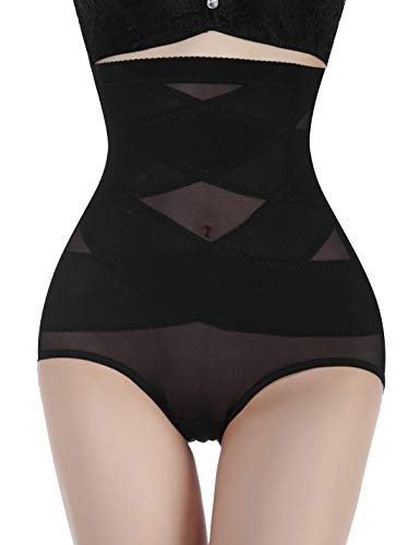 Nebility Women Butt Lifter Shapewear Hi-Waist Double Tummy Control Panty Waist Trainer Body Shaper (3XL, Black)