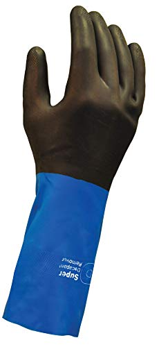 Super Remover - Neoprene, Chemical Resistant Gloves, Industrial Strength, Stripping and Painting Gloves, Durable & Reusable with Anti-slip Grip - 1 pair (Medium)