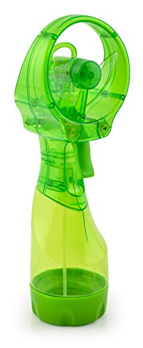 O2COOL Deluxe Misting Green Personal Fan, Universal