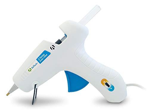 AdTech 0453 2-Temp Dual Temperature Hot Glue Gun Full Size, White
