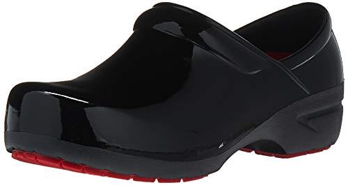 Anywear Women's SRANGEL Health Care Professional Shoe, Black Patent/Black, 10 Medium US