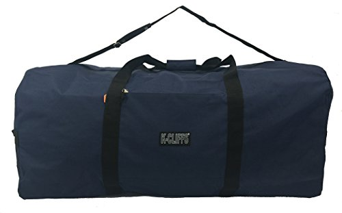 Heavy Duty Cargo Duffel Large Sport Gear Drum Set Equipment Hardware Travel Bag Rooftop Rack Bag (36' x 17' x 17', Navy)