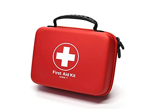 Compact First Aid Kit (228pcs) Designed for Family Emergency Care. Waterproof EVA Case and Bag is Ideal for The Car, Home, Boat, School, Camping, Hiking, Office, Sports. Protect Your Loved Ones.
