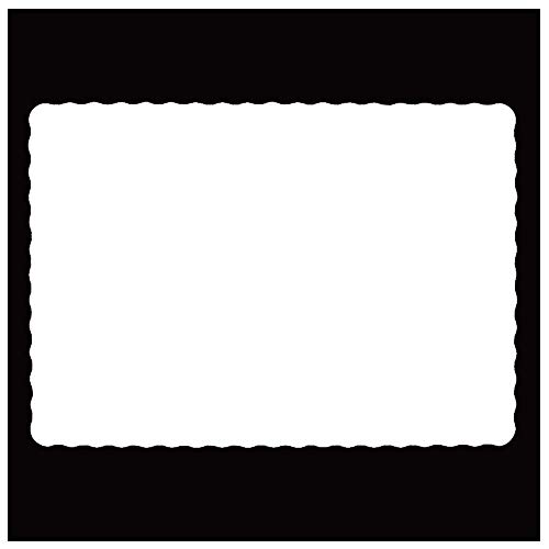 Rectangle Disposable Paper Placemat (200 Pack) - 10 x 14 Inches White Eco-friendly Heavy weight 60 pound paper Place Mat Wavy Scalloped Edge