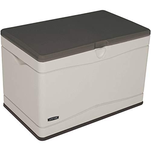 Lifetime 80 Gallon Heavy-Duty Deck Box, Desert Sand .A Desert Sand