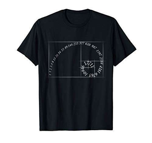 Fibonacci golden ratio spiral design for geometry lovers T-Shirt