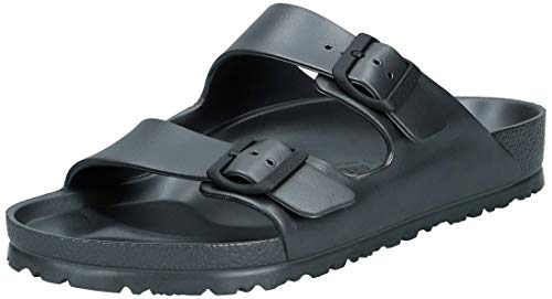 BIRKENSTOCK Unisex Arizona Essentials EVA Sandal, Metallic Anthracite, 39 N EU