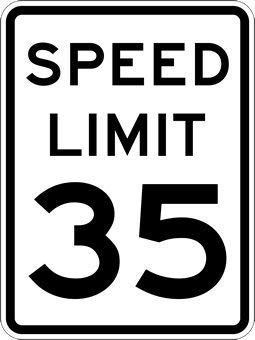 New Metal Sign Aluminum Sign 35 MPH Speed Limit Signs for Outdoor & Indoor 12' x 8'