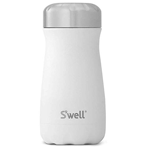 S'well Stainless Steel Traveler - Triple-Layered Vacuum-Insulated Containers Keeps Drinks Cold for 21 Hours and Hot for 9 - with No Condensation - BPA Free Water Bottle, 12oz, Moonstone