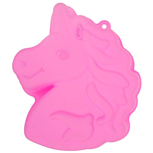 Sakolla Unicorn Silicone Cake Pan - Large Size Unicorn Bread Baking Tray,Non-Stick Silicone Biscuits Dessert Bakeware,Cheesecake Muffin Mold