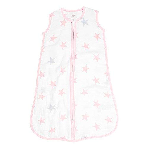 aden + anais Essentials Classic Sleeping Bag, 100% Cotton Muslin, Wearable Baby Blanket, X-Large, 18+ Months, Doll - Stars
