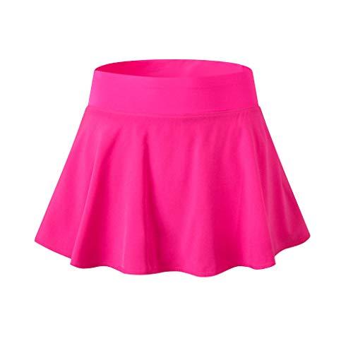LHVUOA Women Active Skorts Performance Skirt Running Tennis Golf Workout Sports Hot Pink