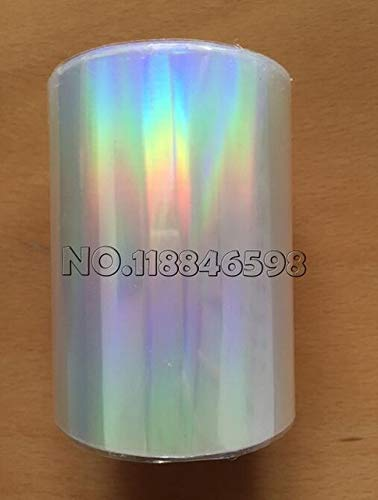 Tool Parts New Style Holographic Foil Plain Transparent Foil Hot Stamping On Paper or Plastic 8cm x 120m/Lot DIY Package Box - (Color: transaparent)