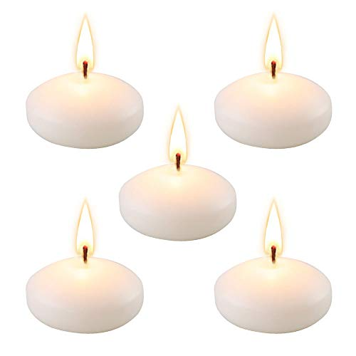 Set of 48 Unscented Floating Candles for Centerpieces,2 Inch White Small Floating Candles for Pool,Weddings, Parties, Special Occasions and Home Decor