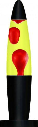 Creative Motion Black Base Liquid Peace Motion Lamp, 16-Inch, Red Wax/Yellow