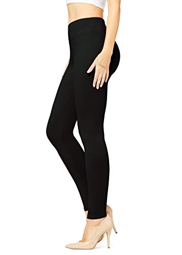 Conceited Buttery Soft High Waisted Leggings for Women in Reg and Plus Size - Womens Yoga High Waist 25 Colors Full Length Midnight Black - One Size