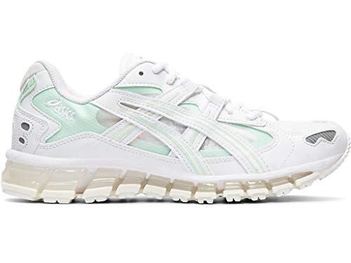ASICS Women's Gel-Kayano 5 360 Running Shoes, 8M, White/Mint Tint