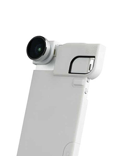 olloclip 4-In-1 Lens and Quick-Flip Case for and Pro-Photo Adapter - iPhone 5/5s - Retail Packaging - Silver Lens/White Clip/White Case