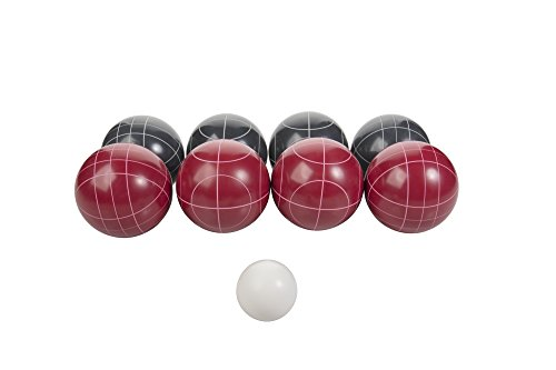 Triumph Competition 100mm Resin Bocce Ball Outdoor Game Set with Carrying Bag for Easy Storage