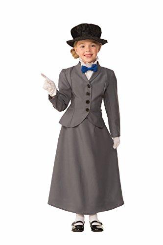 Forum Novelties Kids English Nanny Costume, Gray, Small