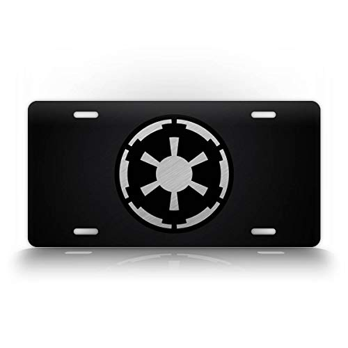 SignsAndTagsOnline Imperial Emblem License Plate Official Galactic Empire Seal Auto Tag