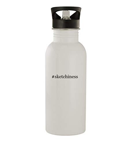 #sketchiness - 20oz Stainless Steel Water Bottle, White
