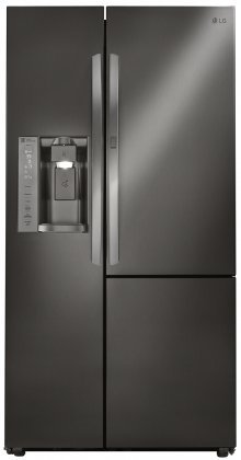 LG LSXS26366D 36' French Door Refrigerator with 26.1 cu. ft. Total Capacity, in Black Stainless Steel