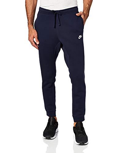 Nike Mens Jogger Club Fleece SweatPants Obsidian, Obsidian/White, Size Large