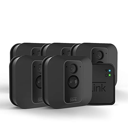 Blink XT2 Outdoor/Indoor Smart Security Camera with cloud storage included, 2-way audio, 2-year battery life – 5 camera kit