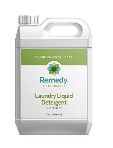 CitriSafe Remedy Liquid Laundry Detergent - Concentrated Laundry Detergent for Dirt and Mold - Liquid Concentrate, 32oz (Laundry Detergent)