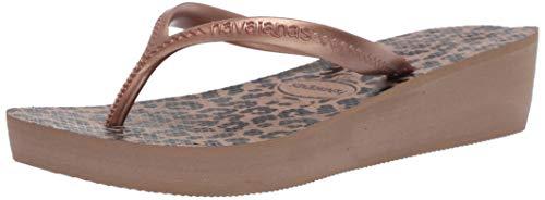 Havaianas Women's High Light II Flip Flop Sandal, Rose Gold/Metallic Rose Gold, 6.5 M US
