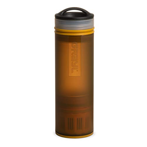 GRAYL Ultralight Water Purifier [+ Filter] Bottle (Coyote Amber)
