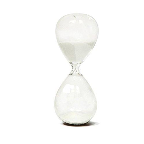 Hourglass Sand Timers - SWISSELITE Biloba Hourglass Sand Timer, 4.4 Inch White Sand Timer In 5 Mins