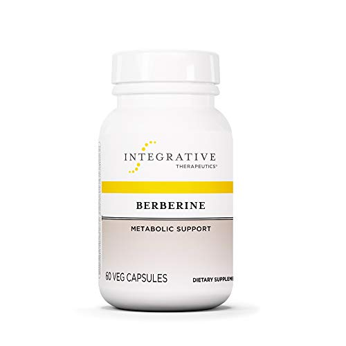 Berberine 500mg Integrative Therapeutics- Metabolism of Blood Sugar Support Supplements - HCL - Vegan - 60 Capsules