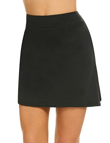 Ekouaer Golf Skort for Girls Comfy Active Athletic Skirt with Shorts Running Tennis Sport(FBA) Black