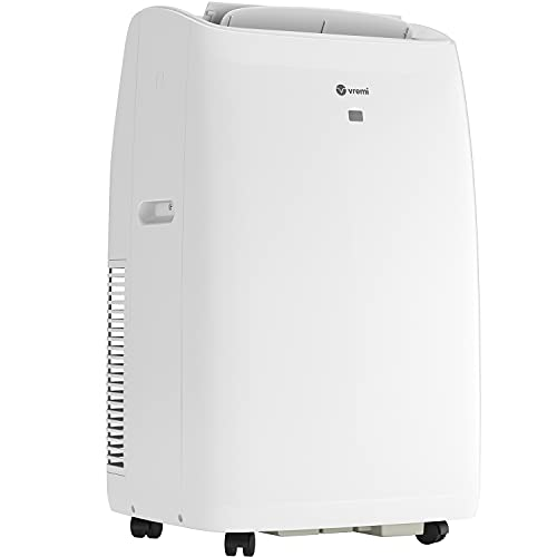 Vremi 14000 BTU Portable Air Conditioner with Heat Function for 400 to 450 Sq Ft Rooms - Powerful AC Unit with Cooling Fan, Wheels, Reusable Filter, Auto Shut Off and LED Display