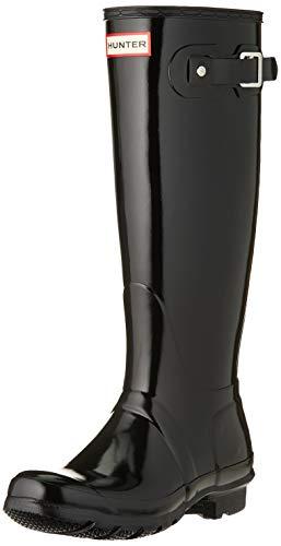 Hunter Women's Original Tall Rain Boot,Black Gloss,10 B(M) US