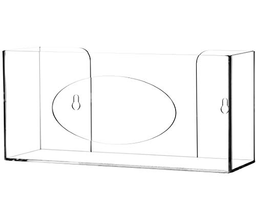 Cq acrylic Clear Wall Floating Glove Rack and Glove Box Dispenser Holder 10'x6.25'x4' Pack of 1