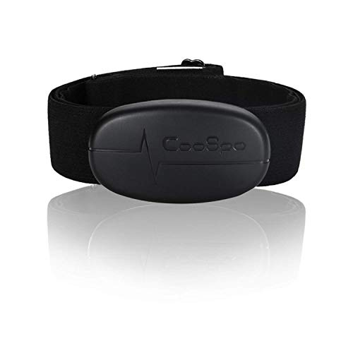 CooSpo Heart Rate Monitor Chest Strap, Bluetooth 4.0 ANT+ Waterproof HR Sensor for Wahoo Peloton Zwift Polar DDP Yoga Map My Ride Garmin Sports Watches