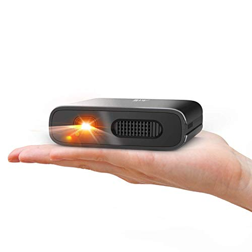 Mini Projector - Artlii Mana Portable DLP Projector with 5200mAh Built-in Battery for Travel, Support 1080P WIFI 3D and Auto Keystone Correction, WIFI Projector for IOS&Android Phone