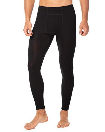 LAPASA Men's 100% Merino Wool Thermal Underwear Pants Long John Leggings Base Layer Bottom M30 (Large, Black)