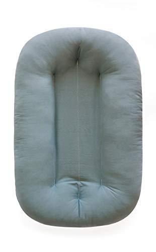 Snuggle Me Organic Bare | Baby Lounger & Infant Floor Seat | Newborn Essentials | Organic Cotton, Fiberfill |Slate