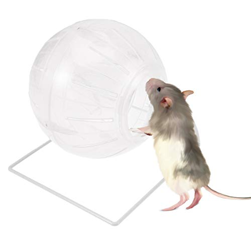 POPETPOP Hamster Exercise Ball,4-in-1 Multifunctional Hamster Running Ball-Hamster Mini Ball for Dwarf Hamster,Mouse,Syrian Hamster Ball with Stand-Clear