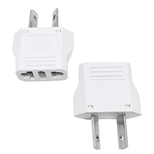 Unidapt US to Australia Plug Adapter - AU/NZ Power Plug Adapter Converter - USA American EU European to AU Australian New Zeeland Outlet Plug Adapters (2 Piece)