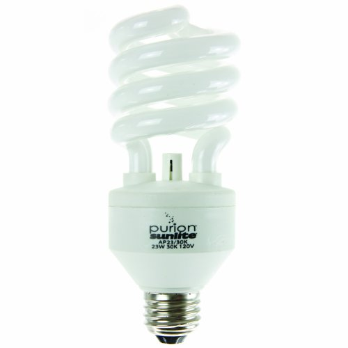 Sunlite AP23/65K Purion CFL T3 Spiral Light Bulb, 23 Watts (100W Equivalent), 1500 Lumens Built-In Air Purifying Technology, Medium Base (E26), UL Listed, 1 Pack, 65K - Daylight