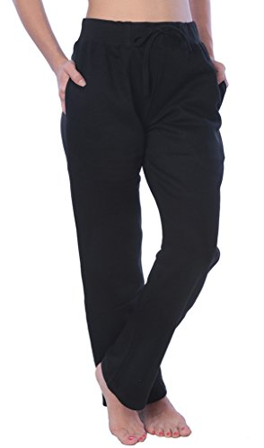 Woman Drawstring Pocket Sweatpants Available in Plus Size LFPO_18 Black M