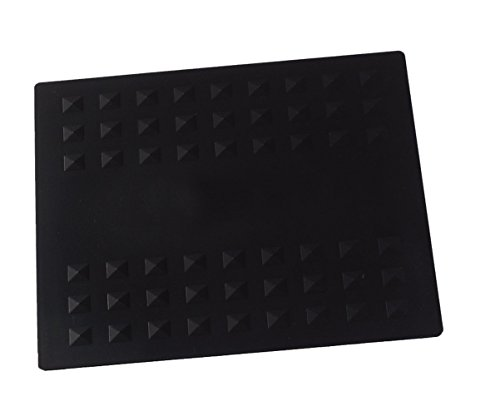 Colortrak Heat-Resistant Styling Station Mat, Silicone Mat Prevents Work Surfaces from Heat Damage of Styling Tools, Prevent Tool from Falling or Slipping, Black, 9 x 11 inches